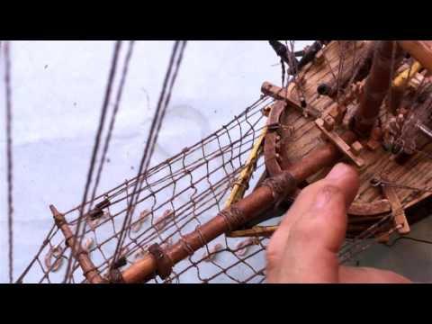 Head CAM HMS Bounty model construction video, by ArtCase Restoration Branko Stipanovic Part 2