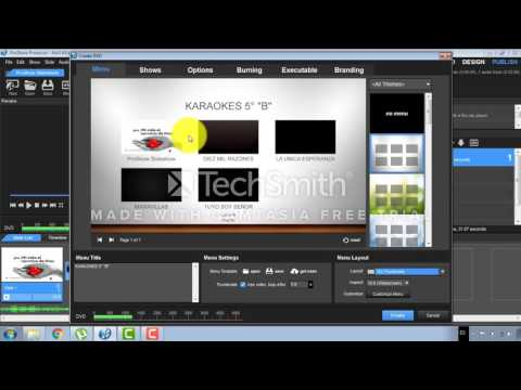 Clase crear menú DVD Proshow Producer