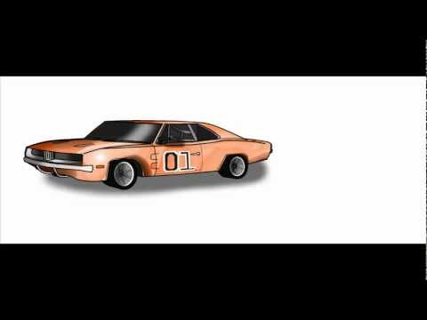 how to draw a 1969 dodge charger car funnycat tv. Black Bedroom Furniture Sets. Home Design Ideas