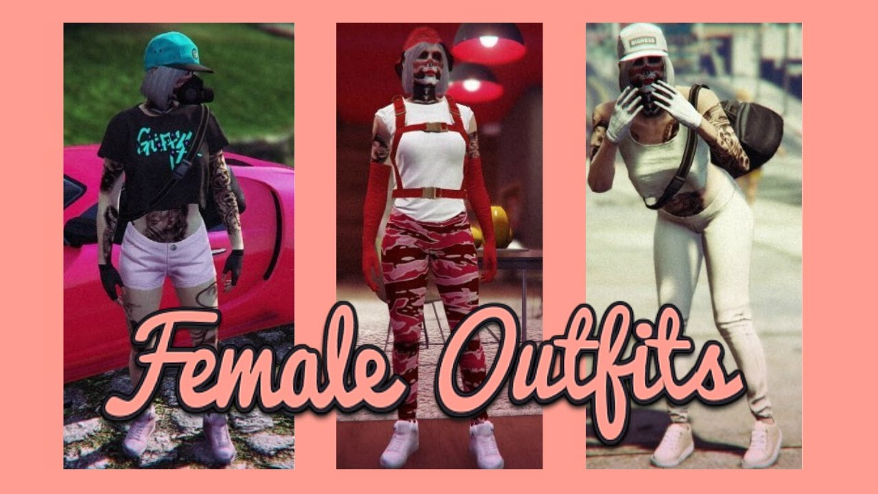 GTA V Online | Current FEMALE Outfits - YouTube