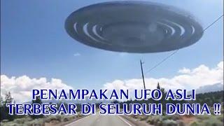 """VIDEO PENAMPAKAN UFO ASLI """"TERBESAR DI SELURUH DUNIA"""" PENAMPAKAN UFO NYATA DI BUMI !!"""