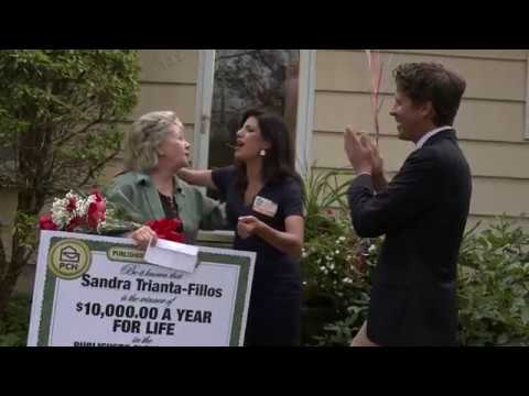 Publishers Clearing House Winners: Sandra T F From Connecticut Wins  $10,000&$10,000 a Year for Life