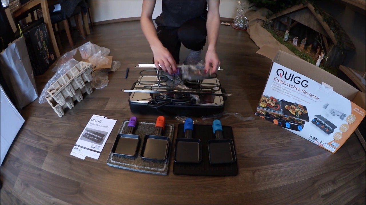 Aldi Holzkohlegrill Quigg : Unboxing aldi quigg raclette grill youtube