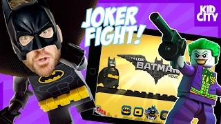 The LEGO Batman Movie Mobile Game - JOKER BOSS FIGHT! | KIDCITY