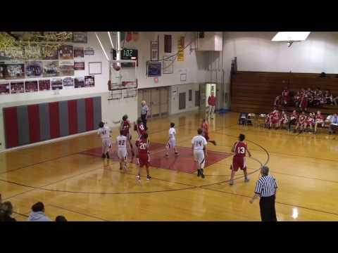 20161219 3 of 3 Bedford Junior High School Michigan 7th grade boys red team vs Monroe