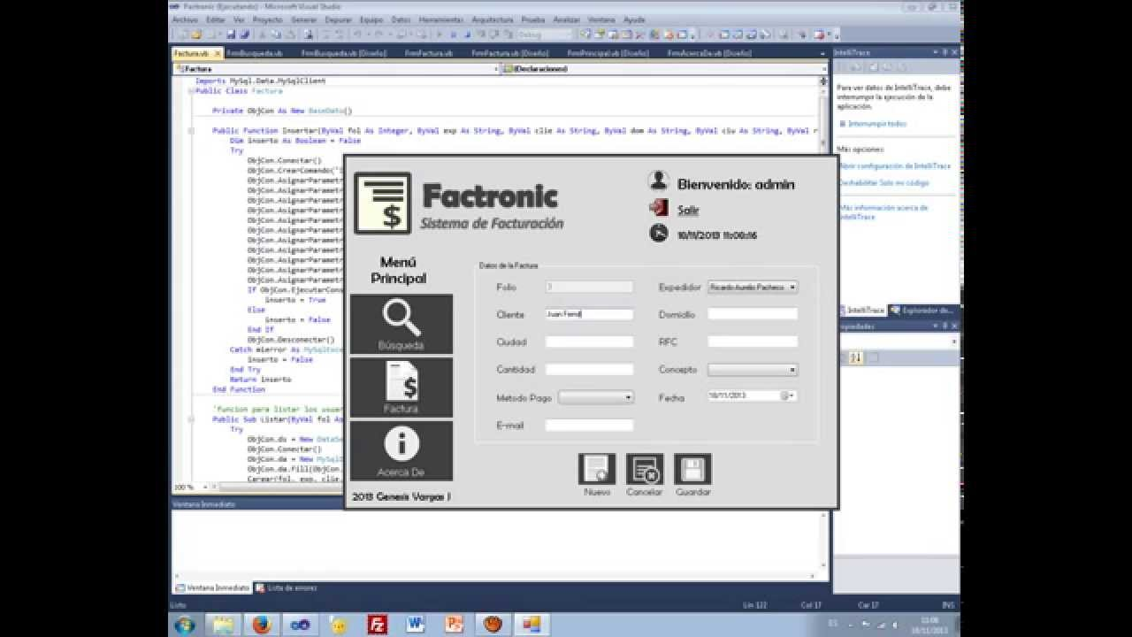 Mini Software de Facturacin Visual Basic NET y MySQL ProgramaCdigo Fuente  YouTube
