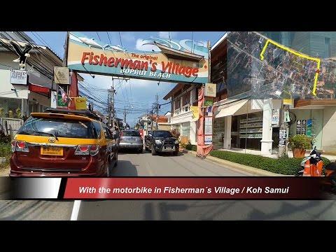 With The Motorbike In Fisherman´s Village / Koh Samui