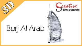 3D metal model & puzzle - Burj Al Arab (International Architecture)