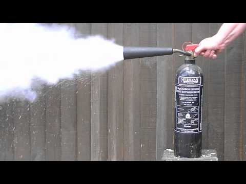 Carbon dioxide fire extinguisher discharge time