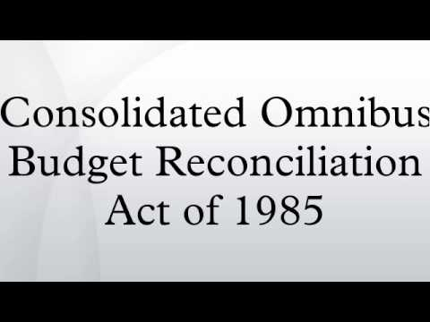 Image result for consolidated omnibus budget reconciliation act