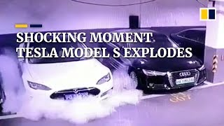 shocking-moment-tesla-model-s-explodes-in-a-chinese-car-park