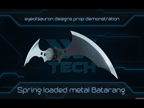 Metal Batarang - Spring loaded - Demonstration