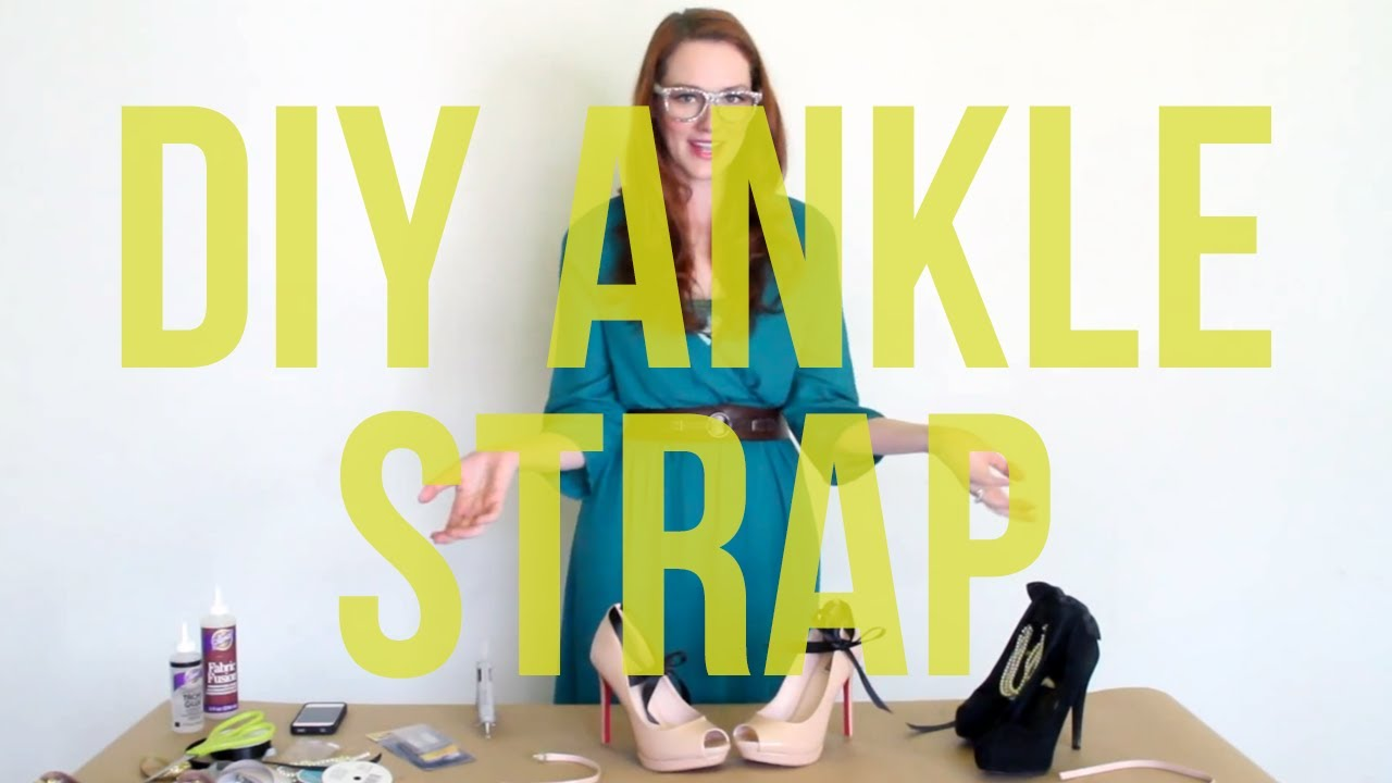 4073a8a3cd8 DIY 3 Ways to Make an Ankle Strap for Your Shoes! - YouTube