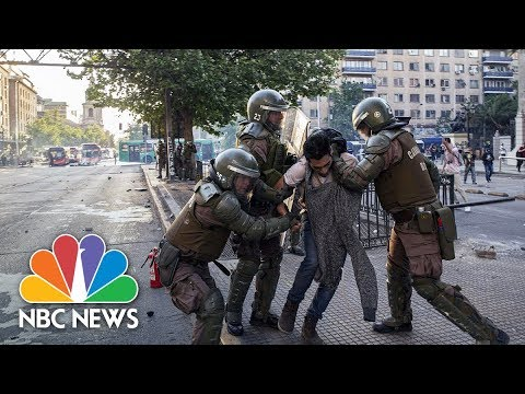 Chile's President Puts Troops On The Street After Night Of Mayhem | NBC News