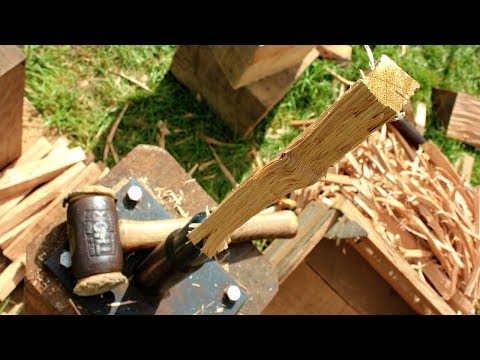 A PRO's way of making Oak pegs 'FAST' for Timber construction