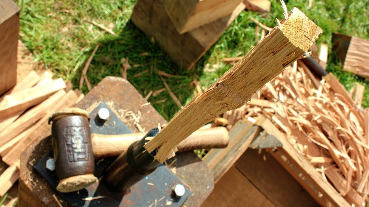 A Pros Way Of Making Oak Pegs Fast For Timber Construction