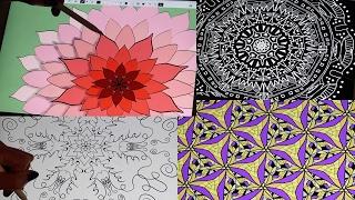 (ASMR) Satisfying, Soothing Kaleidoscope Drawing & Painting (Whispered)