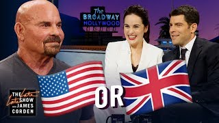 Download Michelle Dockery & Max Greenfield Guess: UK or US? Mp3 and Videos