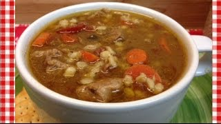 Slow Cooker Beef Barley Soup Recipe