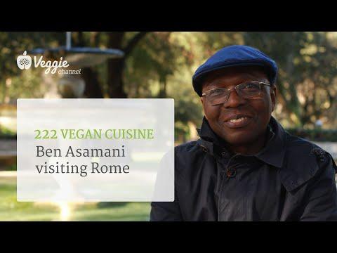 "Ben Asamani ""222 Vegan Cuisine"" visiting Rome"