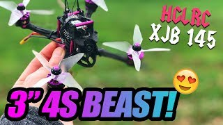 "HGLRC XJB 145 is a 3"" 4S BEAST! - 100% Honest Review & Flights"