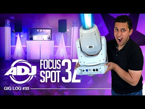 DJ GIG LOG: ADJ Focus Spot 3Z in ACTION | Trying out new DJ LIGHTS at Graduation PARTY
