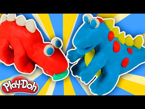 Play Doh Dinosaurs toys games t rex good dinosaur for kids playdough playdoh  peppa pig toys