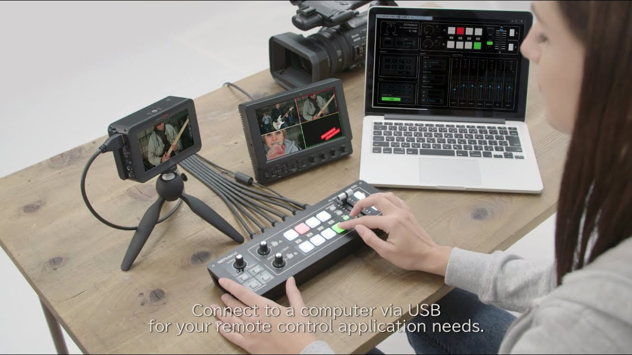 Roland V 1hd Portable Compact Hd Video Switcher Youtube