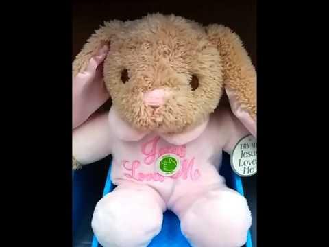 Jesus Loves me / baby bunny Plush :)