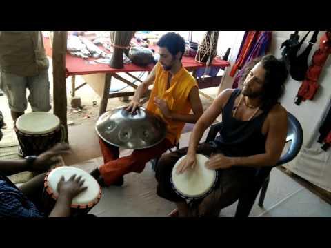 Superlative Hang drum vs Djembe Jam in Hampi, India