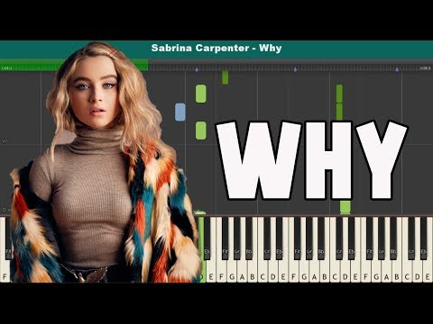 Why Piano Tutorial - Free Sheet Music (Sabrina Carpenter)