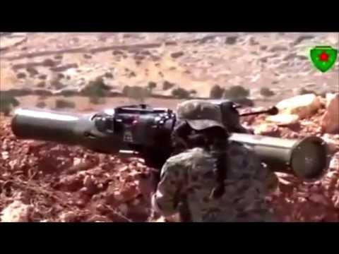 Kurdish PKK/YPJ/YPG-Girls use US BGM-71-TOW Anti-Tank Missile