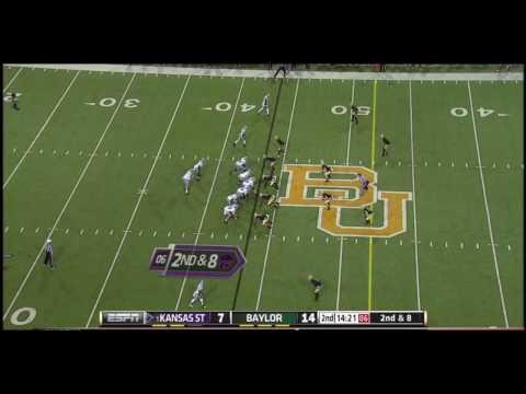 Joe Williams intercepts Collin Klein pass, Baylor v K State 2012
