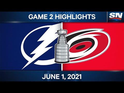 NHL Game Highlights | Lightning vs. Hurricanes, Game 2 - Jun. 1, 2021