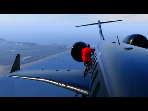 BMX PLANE HOBO HIJACK! (GTA 5 Funny Moments)