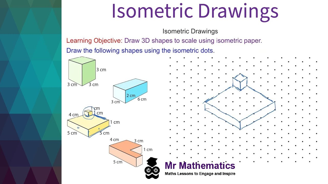 medium resolution of Isometric Drawings - Mr-Mathematics.com