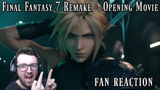 Final Fantasy 7 Remake - Opening Movie / Intro Fan Reaction