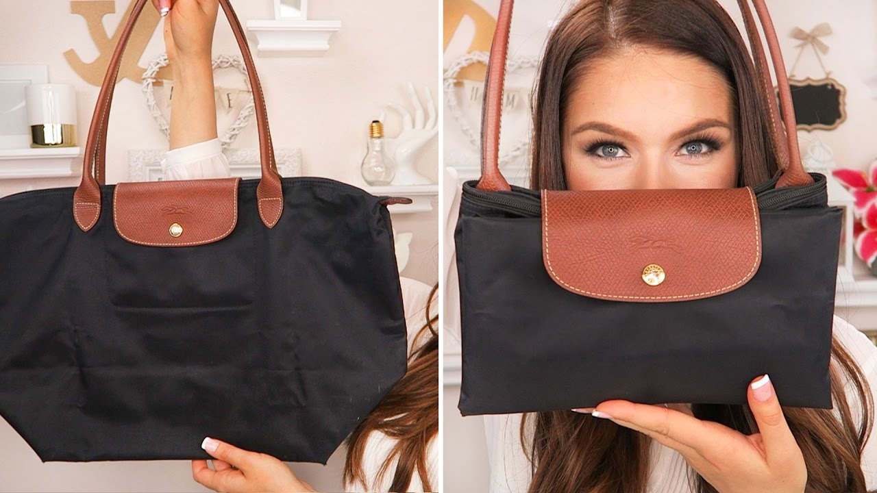 5e2a5a91112c How To Fold Longchamp Le Pliage Tote - YouTube