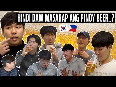 Sinubukan ng mga Koreano ang FILIPINO BEER!?