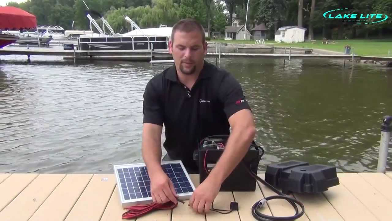 Lake Lite 12v Boat Lift Solar System Wiring Instructions  YouTube