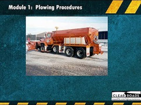 Clear Roads—Snowplow Operator and Supervisor Training Webinar