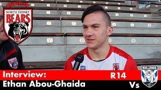 2018 Interview - Jersey Flegg Centre Ethan Abou-Ghaida - Round 14 Vs Bulldogs