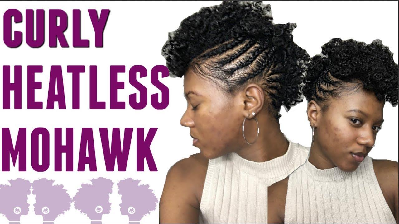 Easy Braided Mohawk On Short Natural Hair Youtube