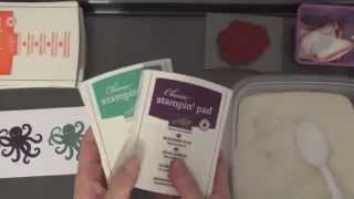 How To Emboss With Stampin Up's In Color Using The Ink Pads