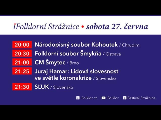 Program vysílání / iFolklorní Strážnice 2020