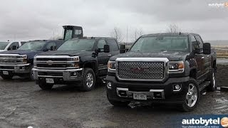 2015 GM Heavy Duty Pickup Truck Road Test - Sierra 2500HD and Silverado HD Test Drive Video Review