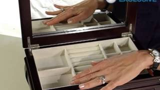 Ava Espresso Wooden Jewelry Box 13.5w X 8.75h In - Product Review Video