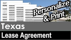 Texas Lease Agreement for Rental Property