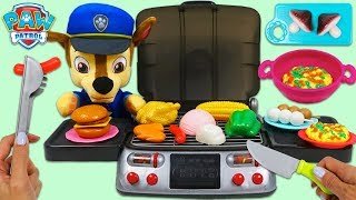 Feeding Paw Patrol Baby Chase Using Dazmers Toys BBQ Grill Playset & Toy Kitchen Sink!