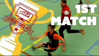 Zaalvoetbaltoernooi Match 1: Yous Alert VS Bankzitters
